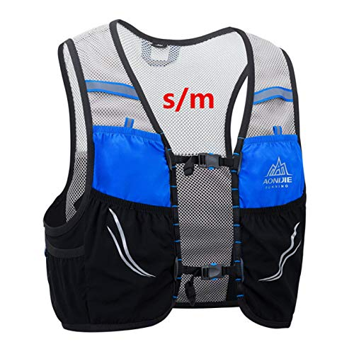 AONIJIE 2.5L Outdoor Sport Rucksack Marathon Trinkrucksäcke Rucksack für Radfahren, Laufen Camping Marathon Race (Schwarz-S/M)