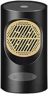Hxsm Calefactor Eléctrico Bajo ConsumoCalentadores de Manos Calentamiento rápido Inteligente Temperatura Constante Ventilador de Calentamiento pequeño-Negro