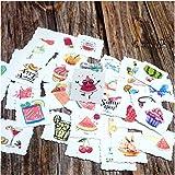 Wasserdichte Aufkleber, Sommerzeit, Obst, selbstklebend, dekorativ, Scrapbooking, Tagebuch, Album,...