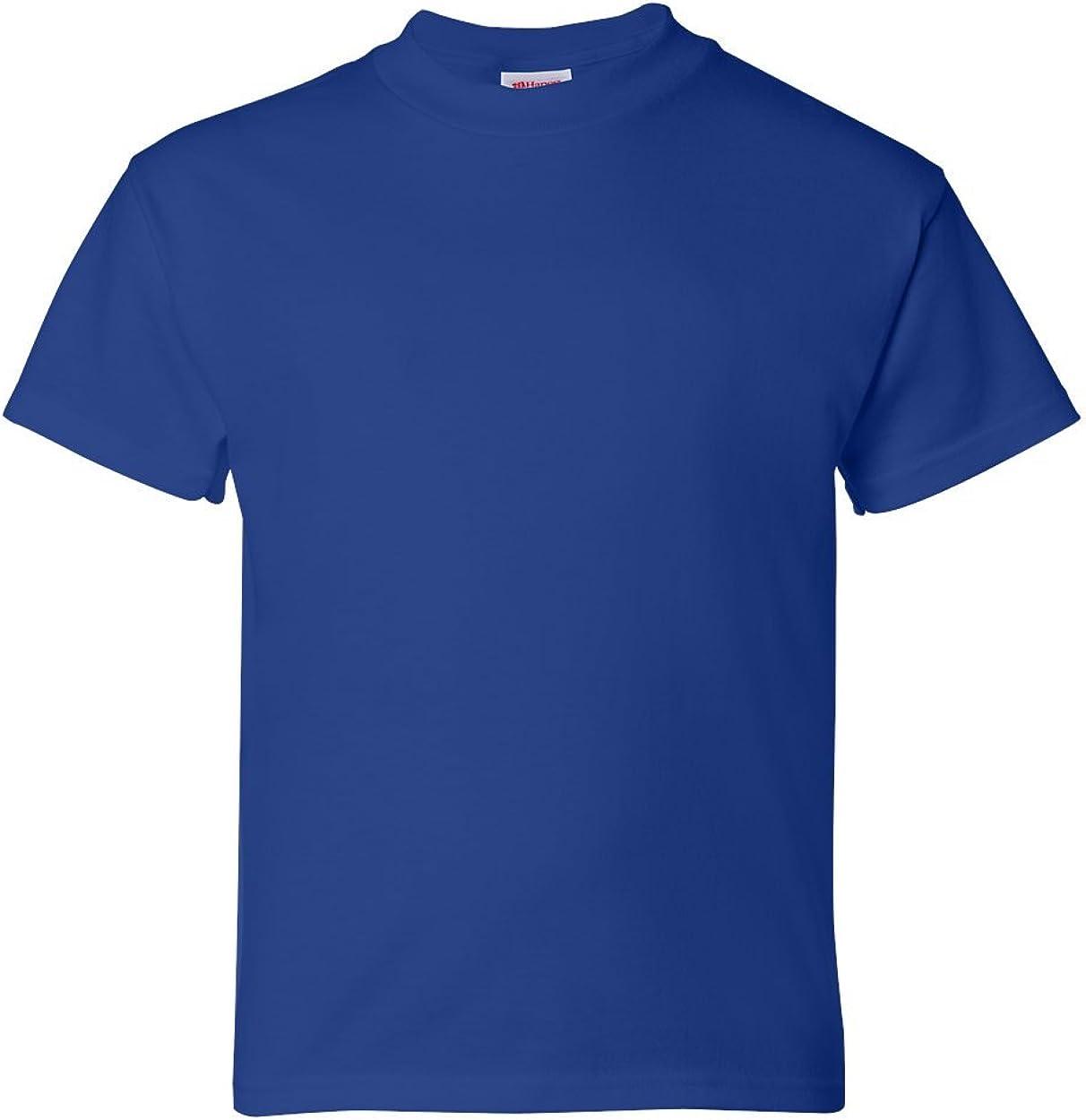 Hanes Boys 5.2 oz. ComfortSoft Cotton T-Shirt 5480 -DEEP ROYAL XL