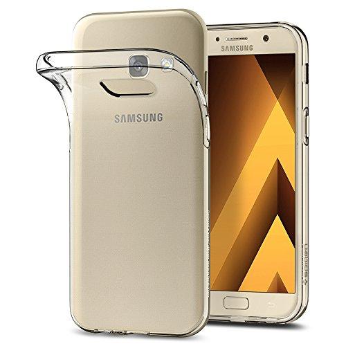 Spigen 573CS21144 Liquid Crystal für Samsung Galaxy A5 2017 Hülle Soft Flex Silikon Transparent Handyhülle TPU Durchsichtige Schutzhülle Hülle - Crystal Clear