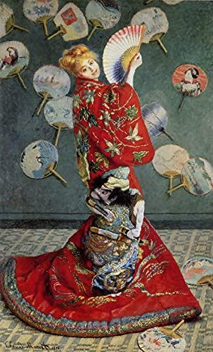 XXYHYQHJD Kimono de Mujer Japonesa Monet Pintura por Números para Adultos y...