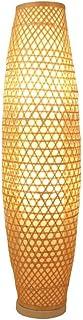 Lampe de sol Dru, lampe de sol, lampe de sol en bambou, en rotin