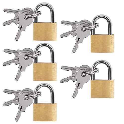 UCEC 5 candados, candado de combinación al aire libre, candados con llaves, candado de latón para equipaje, bolsas, maletas, cadenas
