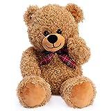 Bebamour Plush Teddy Bear Toys Stuffed Animal Plush Doll for Boys and Girls Birthday Gift Home Decorate, 45cm,Light Brown