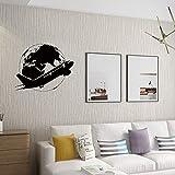 zqyjhkou Voyage Mondial Autocollant Mural Avion Avion Terre Motif Fond Papier Peint Maison Chambre Salon Fond n30x37cm