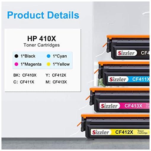 Sizzler Compatible 410X Cartuchos de tóner Reemplazo para HP 410X 410A Toner Cartuchos para HP Color LaserJet Pro M477… 7
