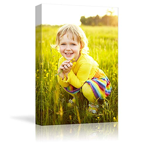 NWT Custom Canvas Prints with Your Photos for Kids Aging, Personalized Canvas Pictures for Wall to Print Framed 14x11 inches