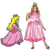 Disfraz de princesa Peach Super Mario Brothers Princess Cosplay juego clásico disfraz de Mario disfraz de Halloween para niñas y niños