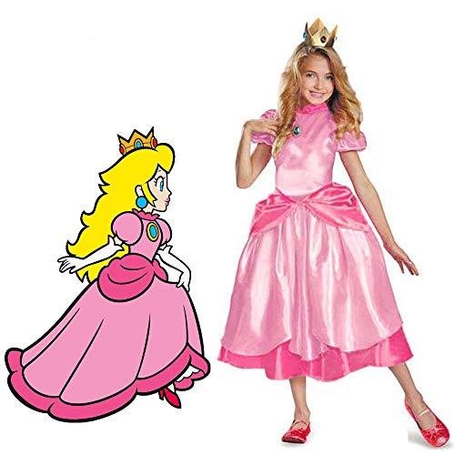 Petite princesse pêche Costume Super Mario frères princesse Cosplay jeu classique Costume Mario enfants fille Halloween déguisement