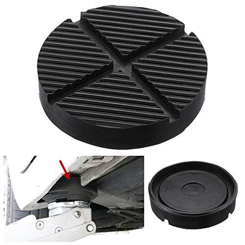 housesweet Wagenheber Gummi Disc Pad Rahmen Protector Schiene Nut Boden Jack Disk Guard Adapter für Fahrzeug 12,5 * 2,6 Schwarz