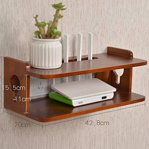 plank TV wandkast/woonkamer muur massief hout set-top box slaapkamer muur opknoping/router opbergdoos