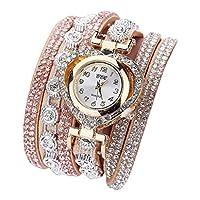 DYNWAVE ファッションラグジュアリーブレスレット腕時計ハートダイヤルウォッチバングルジュエリー - 象牙