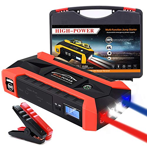 Great Features Of LIMEID 1000A 20000mAh Car Jump Starter, with USB Quick Charge (Up to 6.0L Gas or 4...