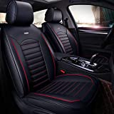 otoez Car Seat Covers Universal Auto Faux Leather Seat Cover Full Set Front & Rear Seat Protector for Sedan SUV Truck Vans Fit Hyundai Sonata Toyota Coralla Camry Honda Accord Civic VW Chevy Malibu