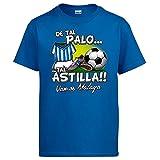 Diver Camisetas Camiseta De Tal Palo Tal Astilla Málaga fútbol - Azul Royal, XL