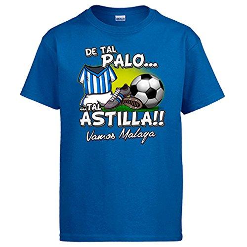 Diver Camisetas Camiseta de Tal Palo Tal Astilla de Málaga para Aficionado al fútbol - Azul Royal, XL