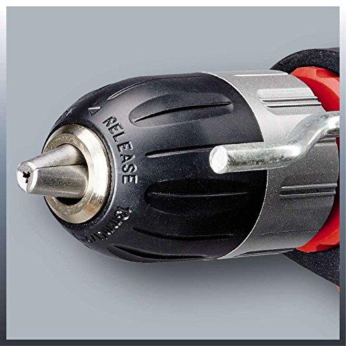 Einhell Pack taladro percutor y 15 piezas de perforación (TC-ID 1000 Kit), 1010 W, 230V, color rojo y negro (ref. 4259838)