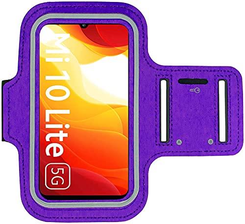 KP TECHNOLOGY Funda para brazalete Xiaomi Mi 10 Lite 5G - para correr, ciclismo, senderismo, piragüismo, caminar, montar a caballo y otros deportes para Xiaomi Mi 10 Lite 5G (PURPLE)