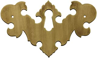 Solid Brass Colonial Revival Style Keyhole Escutcheon with Antique-by-Hand Finish