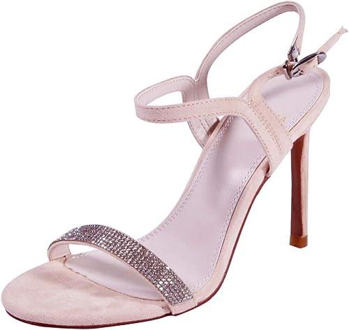 Escarpins MesLes dames été Mode 10.5Cm Sauvage Sexy Chaussures à Talons Hauts avec des Sandales