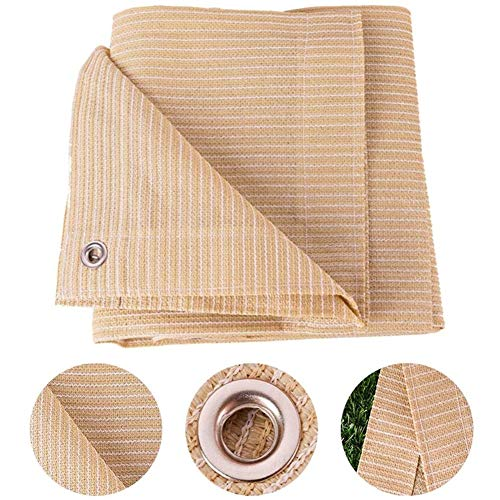 Sun Shade Cloth Outdoor Garden Patio Cover Sunscreen Awning Canopy 90% Sun Block Protection Breathable, Beige, Customize (Size : 2x6m)