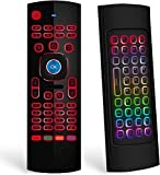 RGB Backlit MX3 Pro Air Mouse Remote Control for Windows PC Laptop Android tv Box,Mini Wireless Keyboard.IR Learning for Android TV Box, PC, Ps4,Projector, HTPC etc. …