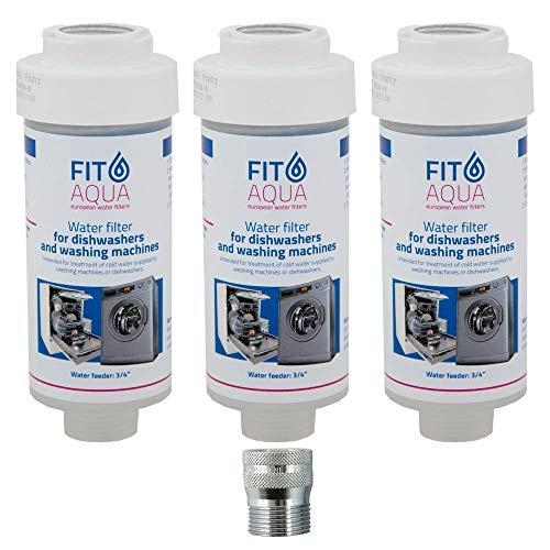 Fit aqua AC-WSM AM-Set-III - Set di 3 filtri anticalcare per lavastoviglie