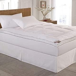 Kathy Ireland Home Essentials 233 Thread Count Cotton Fiber Mattress Pad, Queen, White