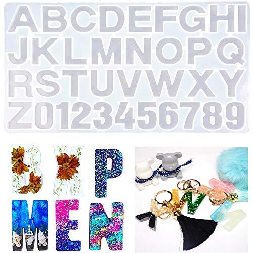 Números Letras Alfabeto Molde silicona Molde resina