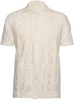 Mens Guayabera Shirt - Embroidered