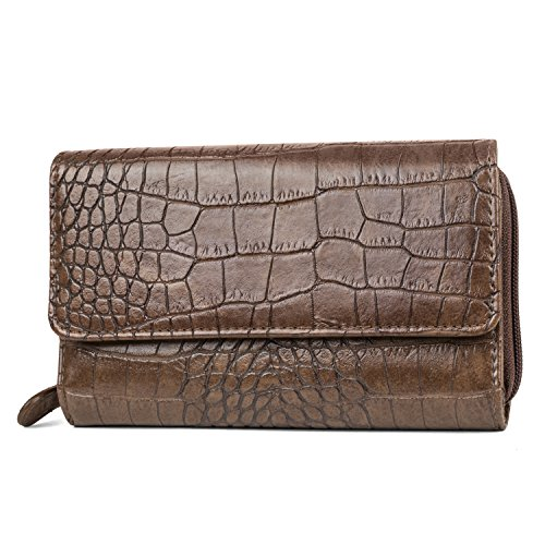 Mundi Big Fat Wallet, Poschette giorno donna Brown Taglia unica