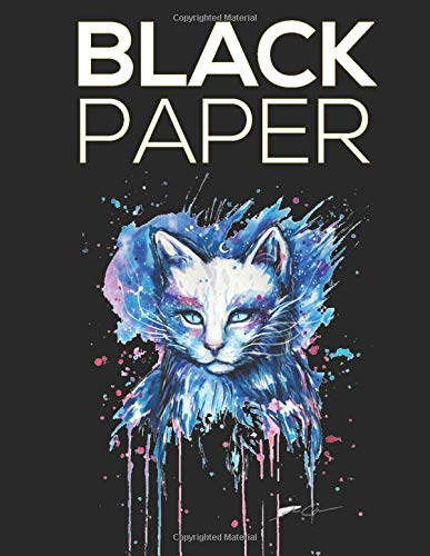 Black Paper: Black Paper -100 Pages 8.5' x 11' for Drawing, Painting, Sketching, Writing and Doodling. Sketch Pad-SKETCH BOOK Black Pages
