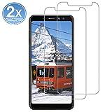 OYYXNN [2 Stück Panzerglas für Samsung Galaxy A8 2018, Schutzfolie [9H Festigkeit] 2.5D [HD Clear] Bildschirmschutzfolie Folie [Anti-Kratzen] [Blasenfrei]