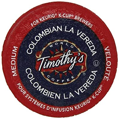 Timothy's World Coffee, Colombian La Vereda, K-Cup Portion Pack for Keurig K-Cup Brewers 24-Count (Pack of 2)