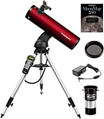 Value-packed GoTo telescope kit includes an expanded accessory pack with everything you need for fun stargazing activities Let this clever computerized reflector and its big, 130mm optics guide you to bright views of everything from the Moon and plan...