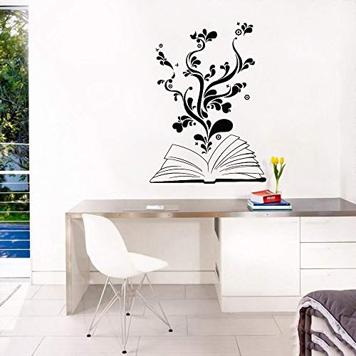 JXND Vinyl openable plant book wall decal sticker home and hotel learning art decoration 57x79