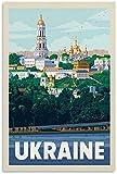 JRLDMD Leinwandbild Vintage Reise Poster Ukraine Poster