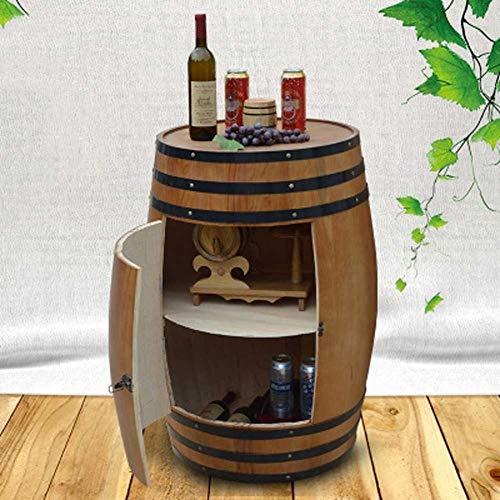 JIANGJI A+ Eiche Weinfass 90cm (225L) Weinfass Weinregal Holz Weinfass braun Weinschrank Weinkeller...