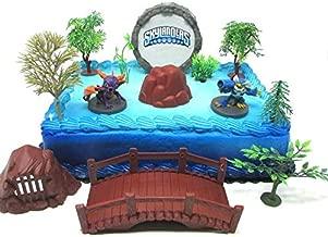 Skylanders Birthday Cake Topper Featuring Skylander Characters and Accessories