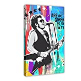 Lenny Kravitz Musiksänger-Leinwand-Poster, Wandkunst,