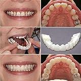 Dentrue Teeth Socket-Perfect Braces and Whitening Alternative No Pain No Shots No Drilling (1 up+ 1 Bottom+2 adhesives)