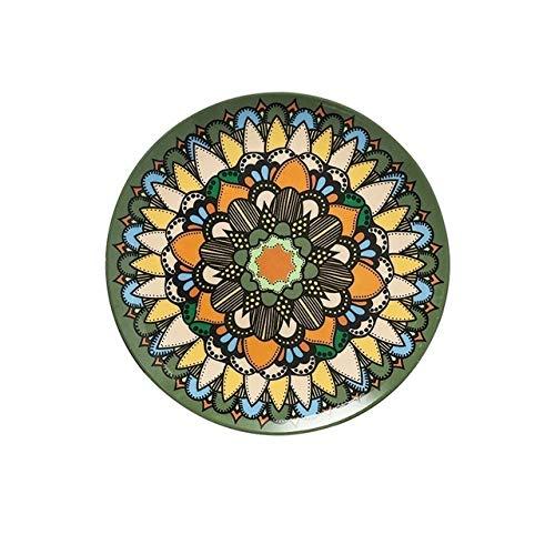 Service de Table Porcelaine Style bohème Plaques Plat Plat plaque décorative Maroc décoratif Motif Plate-ethnique style Art de la table (Color : B, Plate Size : 10 Inch)