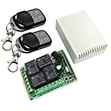 JacobsParts 12V 4CH Channel Wireless Remote Control Radio Relay Switch Transceiver Receiver