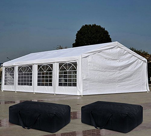 Quictent 13'x26' Heavy Duty Outdoor Gazebo Wedding Party Tent Canopy Carport with Carry Bags