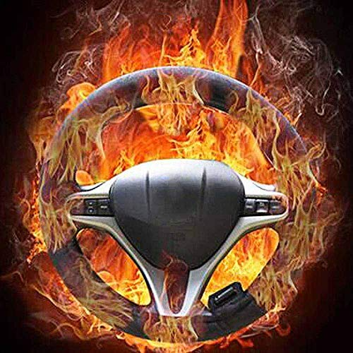 Hosdog Heated Steering Wheel Cover, 12V Heated Protector Covers Heater Car Steering Cover Warmer Winter - Universal Fit Vehicles 15 Inches,Keep Comfortable and Warm While Driving