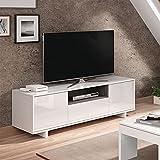 Mobile porta TV moderno soggiorno salotto camera letto BIANCO 150...