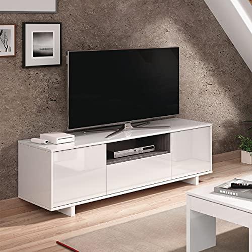 Mobile porta TV moderno soggiorno salotto camera letto BIANCO 150 X 41 X 47 cm - 0G6631BO