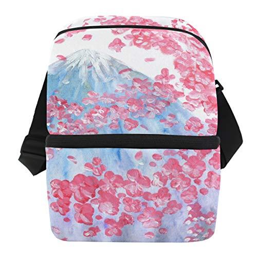 Schouderband koelbox werk Sakura bloem patroon Iceberg draagbare Ice Pack Lunch tas picknick