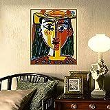SHPXMBH Impresiones Cuadros Pablo Picasso Cubismo Arte de la Pared Decoración Arte de la Pared Pintura en Lienzo Sala de Estar Decoración del hogar 50x70cm sin Marco